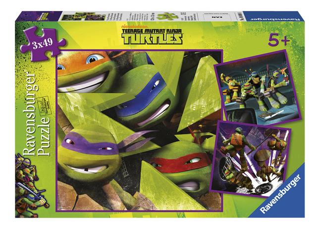 Afbeelding van Ravensburger puzzel 3-in-1 Teenage Mutant Ninja Turtles from ColliShop