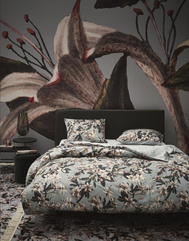 Image pour Essenza Housse de couette Lily dusty green satin de coton 200 x 220 cm à partir de ColliShop