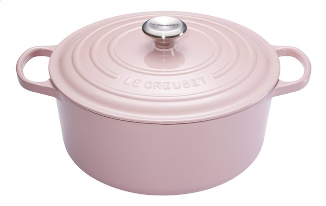Afbeelding van Le Creuset Ronde stoofpan Signature chiffon pink 28 cm - 6.7 l from ColliShop