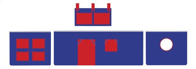 Image pour Rideau de jeu Pino bleu/rouge à partir de ColliShop