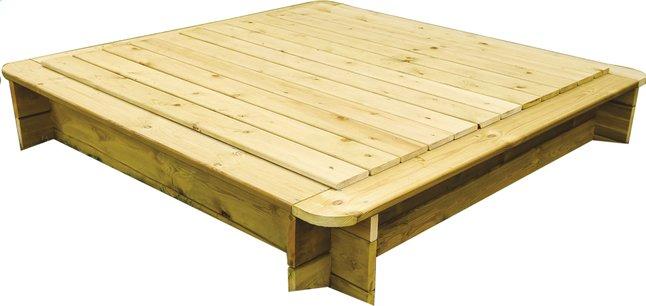 Afbeelding van BnB Wood deksel voor vierkante zandbak 180 x 180 cm from ColliShop