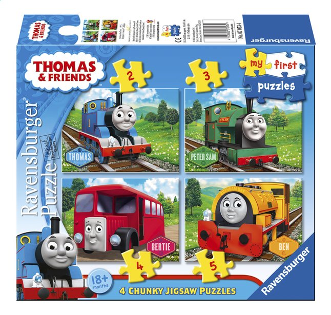 Afbeelding van Ravensburger meegroeipuzzel 4-in-1 Thomas & Friends from ColliShop