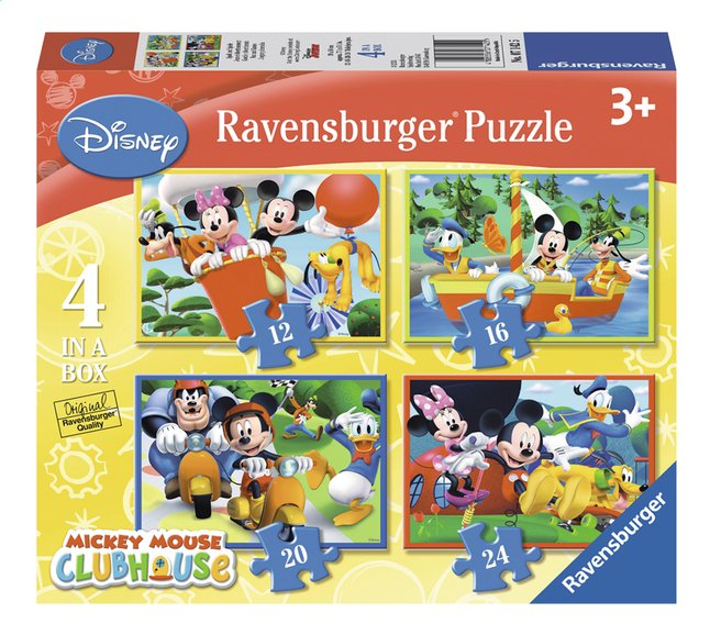 Afbeelding van Ravensburger meegroeipuzzel 4-in-1 Mickey Mouse from ColliShop