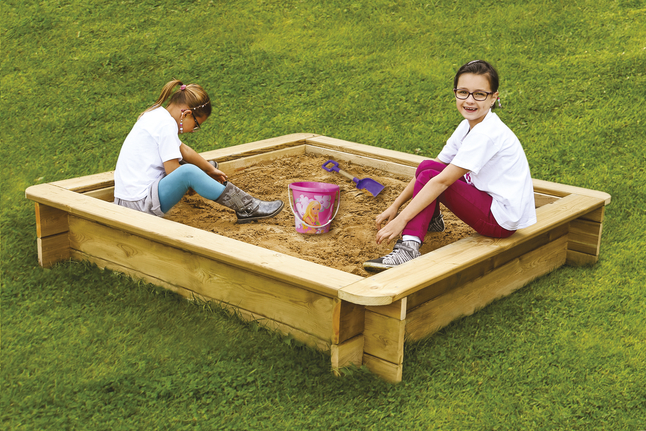 Image pour BnB Wood bac à sable Stembert 180 cm à partir de ColliShop
