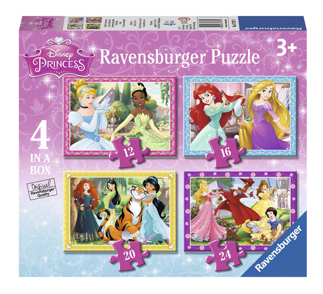 Afbeelding van Ravensburger meegroeipuzzel 4-in-1 Disney Princess from ColliShop