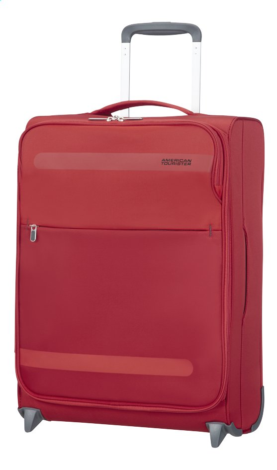 Afbeelding van American Tourister Zachte reistrolley Herolite Super Light Upright formula red 55 cm from ColliShop