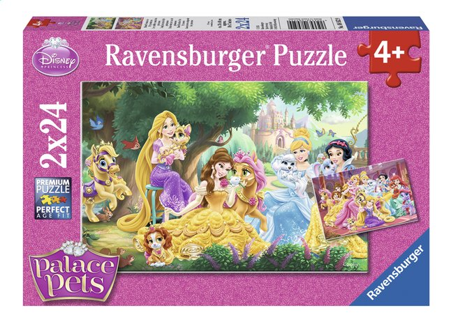 Afbeelding van Ravensburger puzzel 2-in-1 Disney Princess Palace Pets from ColliShop