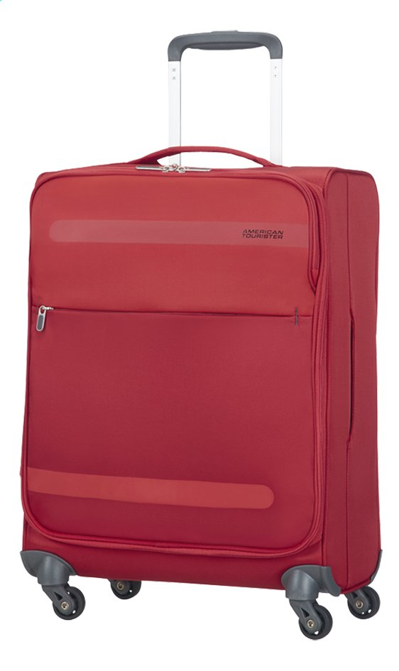 Afbeelding van American Tourister Harde reistrolley Herolite Super Light Spinner formula red 55 cm from ColliShop