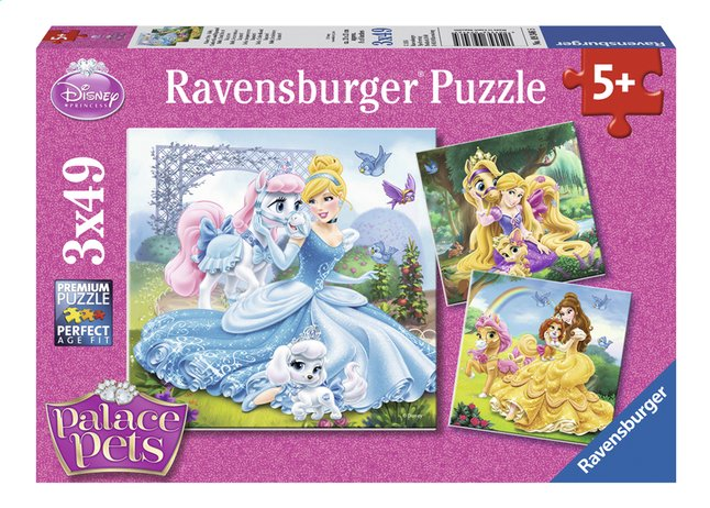 Afbeelding van Ravensburger Puzzel 3-in-1 Disney Princess Belle, Assepoester en Rapunzel from ColliShop