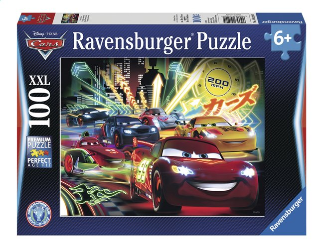 Afbeelding van Ravensburger XXL puzzel Disney Cars Neon from ColliShop