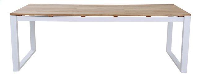 Image pour Table de jardin Selena blanc L 220 x Lg 100 cm à partir de ColliShop