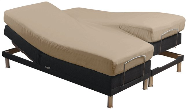 sleepnight drap housse pour sommiers articul s caf au lait collishop. Black Bedroom Furniture Sets. Home Design Ideas