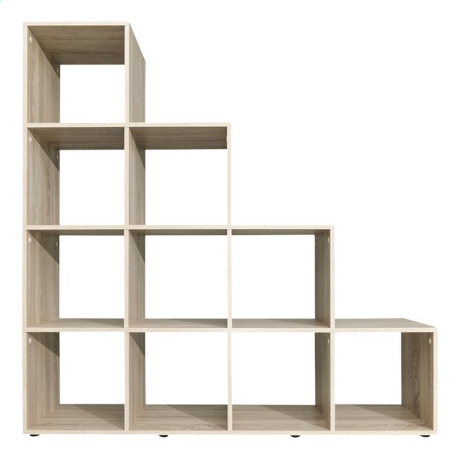 biblioth que cube shelf d cor ch ne sonoma collishop. Black Bedroom Furniture Sets. Home Design Ideas