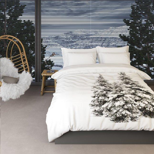 Afbeelding van Romanette dekbedovertrek Winter Pine flanel 240 x 220 cm from ColliShop