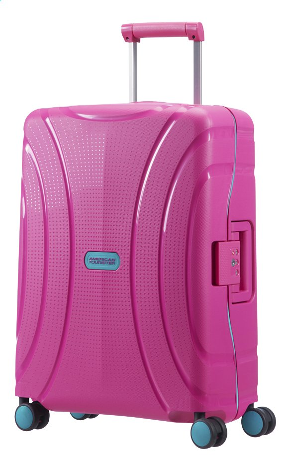 Afbeelding van American Tourister Harde reistrolley Lock'N'Roll Spinner summer pink 55 cm from ColliShop