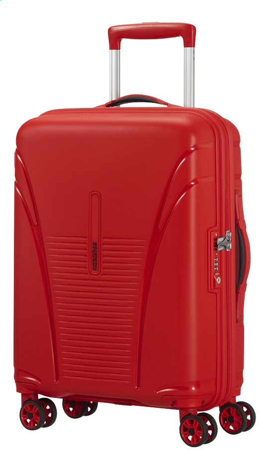 Afbeelding van American Tourister Harde reistrolley Skytracer Spinner Formula Red 55 cm from ColliShop