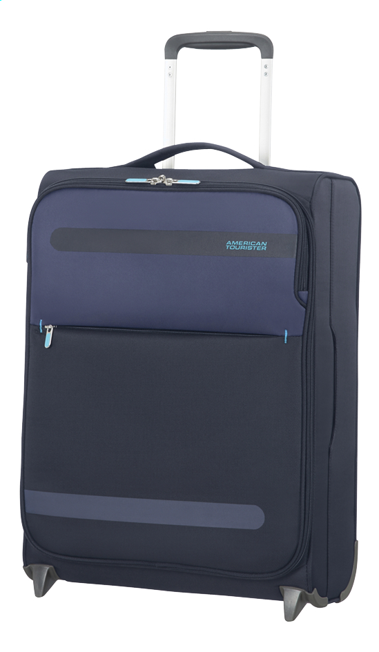Afbeelding van American Tourister Zachte reistrolley Herolite Super Light Upright midnight blue 55 cm from ColliShop