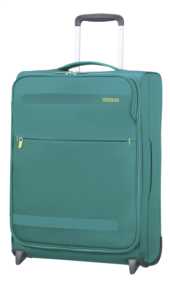 Afbeelding van American Tourister Zachte reistrolley Herolite Super Light Upright cactus green 55 cm from ColliShop