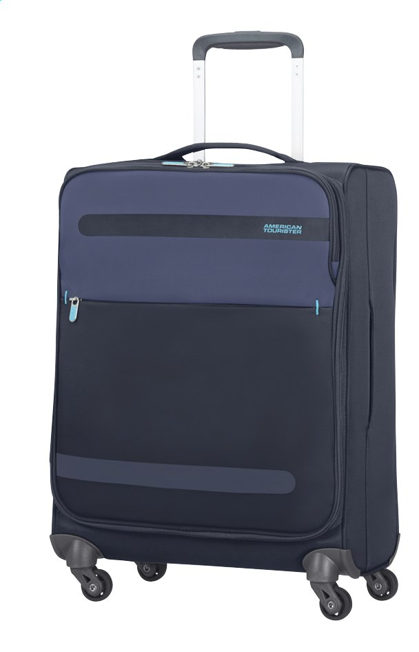 Afbeelding van American Tourister Zachte reistrolley Herolite Super Light Spinner midnight blue 55 cm from ColliShop