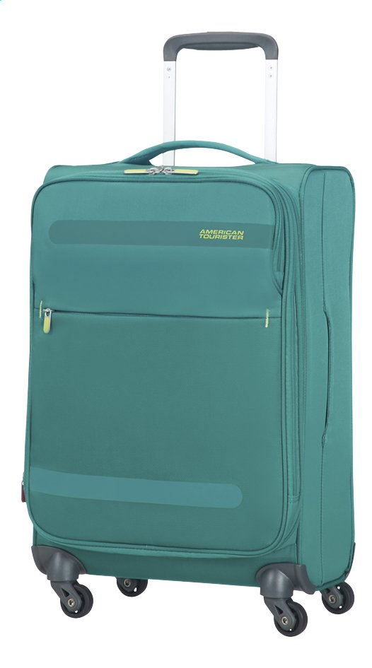 Afbeelding van American Tourister Zachte reistrolley Herolite Super Light Spinner EXP cactus green 55 cm from ColliShop