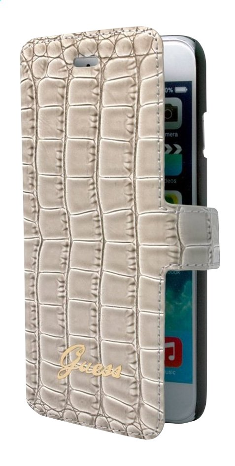 Afbeelding van bigben foliocover Guess voor iPhone 6/6s croco beige from ColliShop