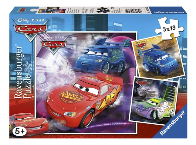 Afbeelding van Ravensburger puzzel 3-in-1 Cars from ColliShop