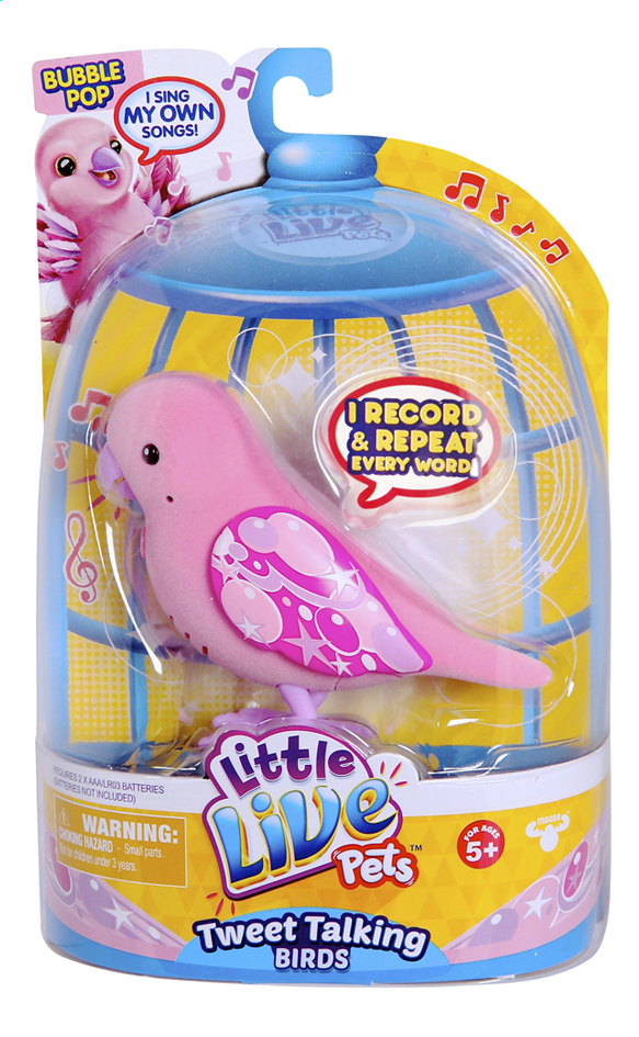 Image pour Little Live Pets Tweet Talking Bird Bubble Pop à partir de ColliShop
