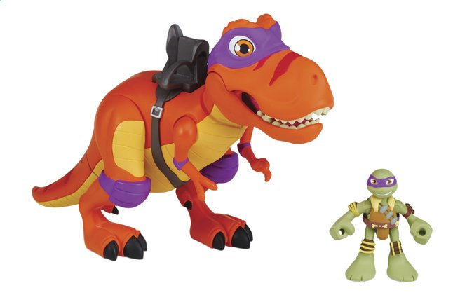 Afbeelding van Set Teenage Mutant Ninja Turtles Half Shell-Heroes deluxe T-Rex with Donnie from ColliShop