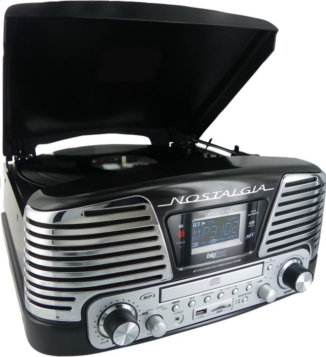 bigben radio lecteur cd tourne disques td79nm nostalgia noir collishop. Black Bedroom Furniture Sets. Home Design Ideas
