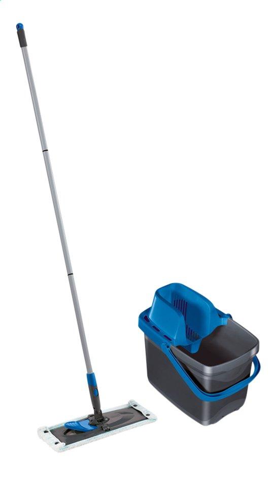 Leifheit Set système d'essorage sans roulettes avec nettoyeur de sol Combi M grey/blue