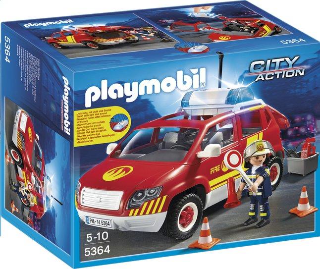 Afbeelding van Playmobil City Action 5364 Brandweercommandant met dienstwagen met licht en sirene from ColliShop