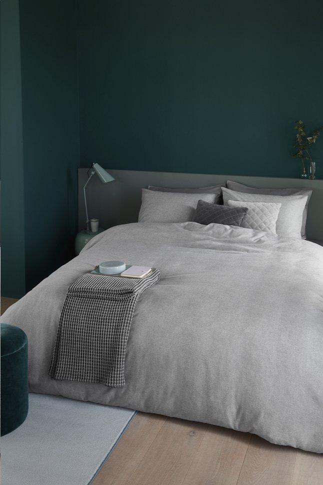 Afbeelding van Beddinghouse Dekbedovertrek Frost flanel light grey 140 x 220 cm from ColliShop