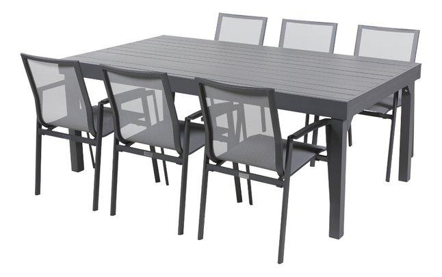 Te Koop Eettafel Met 6 Stoelen.Tuinset Modulo Bondi Antraciet 6 Stoelen Koop Nu Aan Goedkope