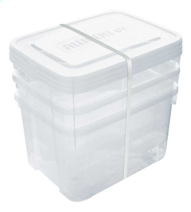 Image pour Allibert Set de 3 pièces Handy Box transparent 20 l à partir de ColliShop