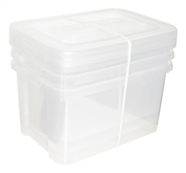 Afbeelding van Allibert 3-delige set Handy Box transparant 50 l from ColliShop