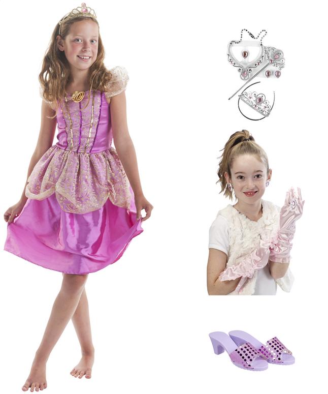 Image pour DreamLand déguisement de princesse rose avec accessoires taille 146 à partir de ColliShop