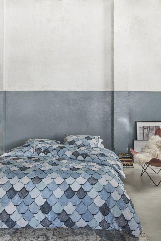 Afbeelding van At Home Dekbedovertrek Vieuw blue katoen 140 x 220 cm from ColliShop