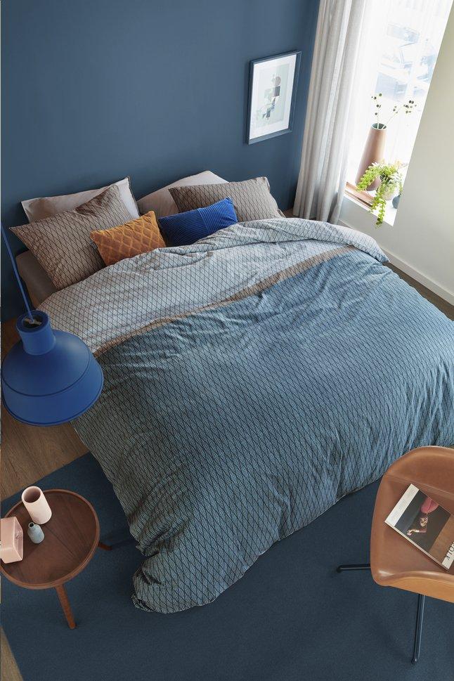 Afbeelding van Beddinghouse Dekbedovertrek Diamante blue katoen 200 x 220 cm from ColliShop