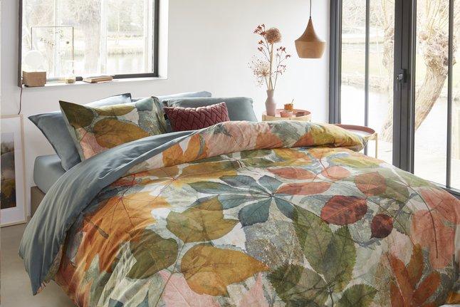 Image pour Beddinghouse Housse de couette Leafage multi satin de coton 240 x 220 cm à partir de ColliShop