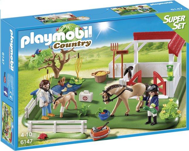 Image pour Playmobil SuperSet 6147 Paddock avec chevaux à partir de ColliShop