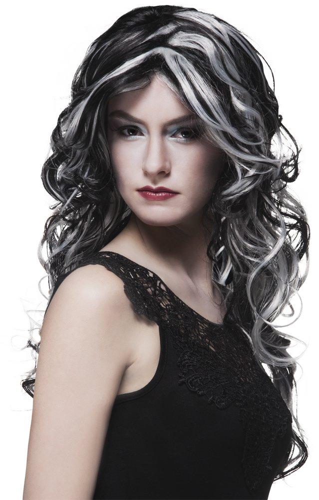 Afbeelding van Pruik moerasheks zwart/grijs from ColliShop