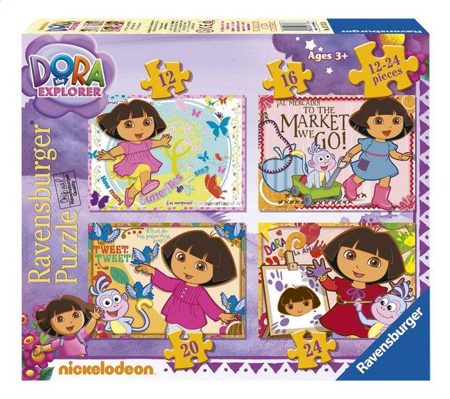 Image pour Ravensburger puzzle évolutif 4 en 1 Dora l'exploratrice à partir de ColliShop
