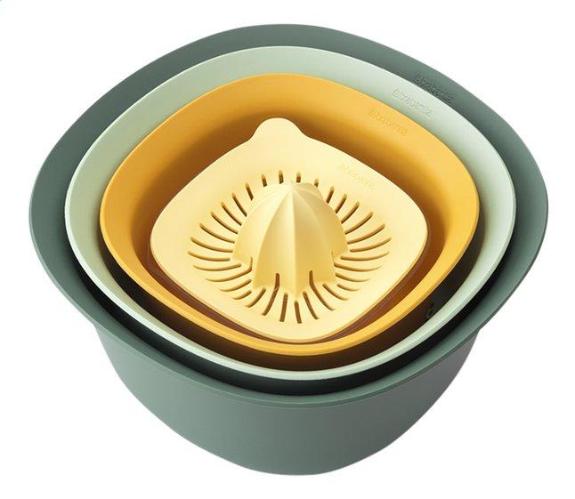 Brabantia Set de 2 bols mélangeurs Tasty+ avec passoire et presse-agrumes