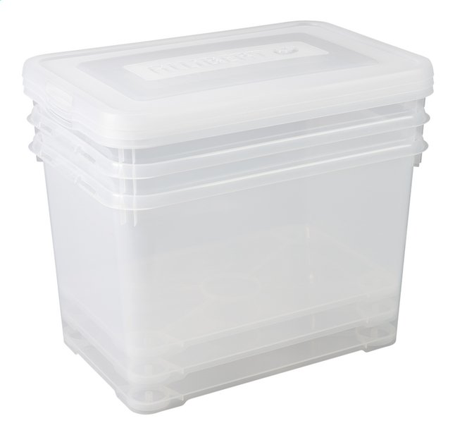 Afbeelding van Allibert 3-delige set Handy Box transparant 65 l from ColliShop