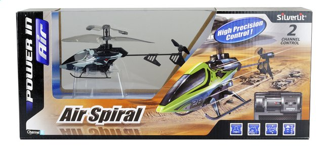 Afbeelding van Silverlit helikopter Air Spiral blauw from ColliShop