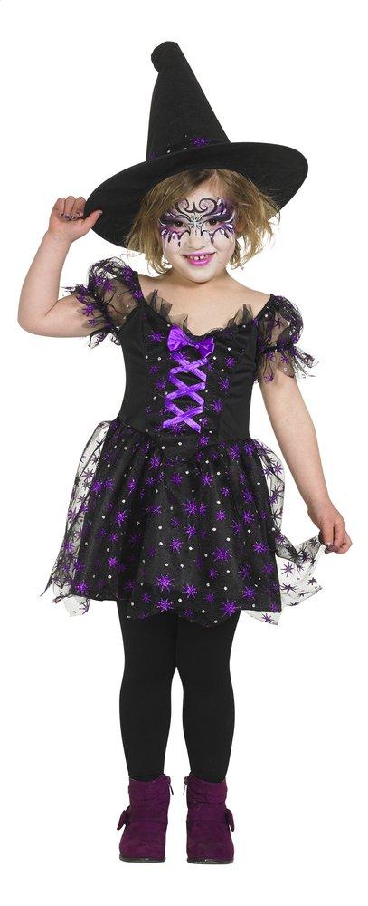 Afbeelding van Verkleedpak heks paars en zwart maat 146 from ColliShop