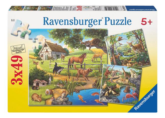 Image pour Ravensburger puzzle 3 en 1 Animaux à partir de ColliShop