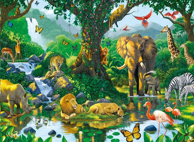Afbeelding van Ravensburger puzzel Jungle Harmony from ColliShop