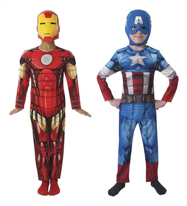 Afbeelding van Omkeerbaar verkleedpak Avengers Iron Man/Captain America maat 110/116 from ColliShop