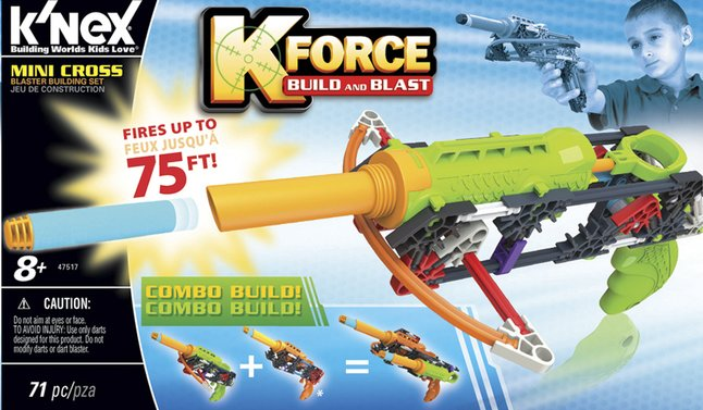 Image pour K'nex K-Force Build and Blast Mini arbalète à partir de ColliShop